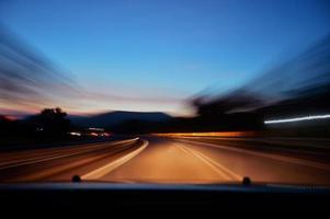 longue exposition de la route