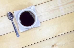 vue de dessus du café noir photo
