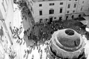 Rues étroites de la vieille ville de Dubrovnik, Croatie