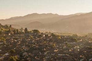 Vieille ville de lijiang le matin
