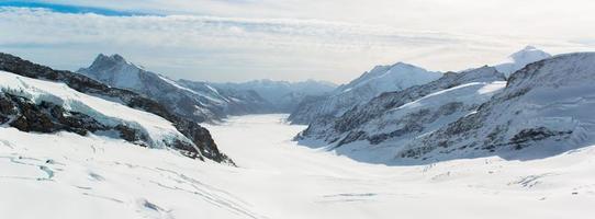 Paysage de montagne des Alpes alpines à Jungfraujoch, haut de l'Europe Suisse