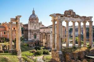 Forum Romanum vue depuis la colline du Capitole en Italie, Rome.