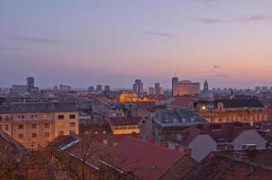 Paysage urbain de Zagreb, Croatie