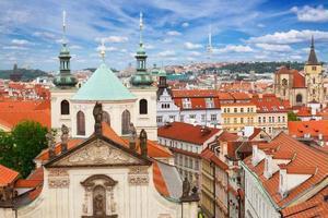 flèches de Prague d'en haut photo