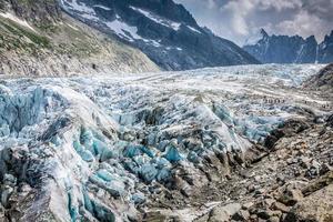 vue sur le glacier d'argentière, chamonix, massif du mont blanc, alpes, fran photo