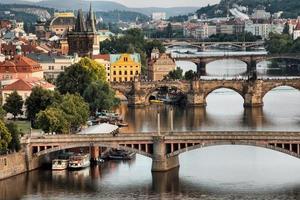 Vltava et ponts à Prague, République tchèque