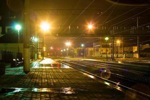 station de nuit photo