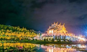 Ho kham luang bâtiment de style thaïlandais du nord