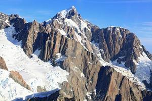 Vue aérienne des Alpes alpines du sud