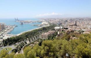 malaga en andalousie, espagne. vue aérienne de la ville
