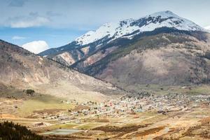 Panorama de Silverton, Colorado, États-Unis photo