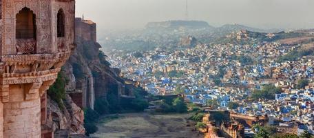 jodhpur - ville bleue. Rajasthan, Inde photo