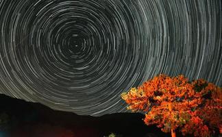 traînées d'étoiles circulaires