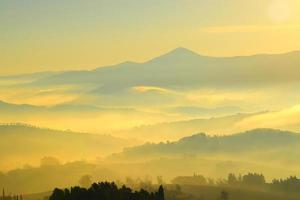 vue aérienne du paysage silhouetté photo