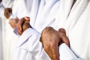 musulmans priant dans une rangée photo