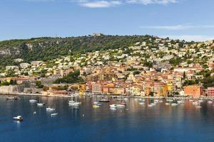 vue villefranche-sur-mer sur la cote d'azur photo