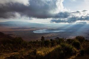 Vue africaine du cratère du Ngorongoro photo