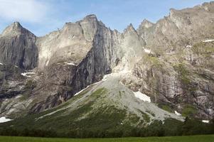 le mur des trolls en norvège photo