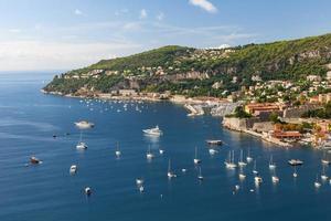 Cap de nice et villefranche-sur-mer sur la cote d'azur photo