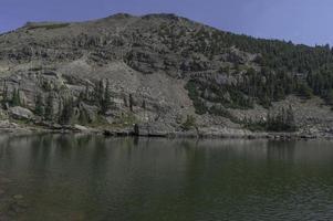 Lac du château dans le parc national des montagnes Rocheuses