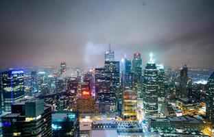 immeubles de grande hauteur illuminés