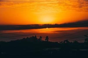 lever du soleil à nairobi photo
