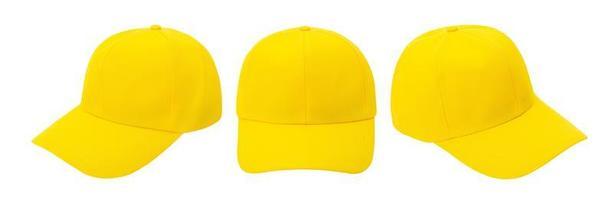 maquette de casquette de baseball jaune