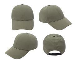 maquette de casquette de baseball verte photo