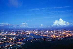 vue de nuit de taipei