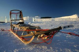 taxi des neiges ancré photo