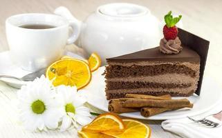 morceau de gâteau de prague