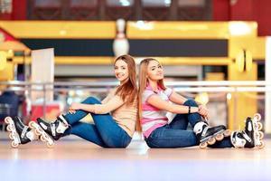 belles filles sur le rollerdrome
