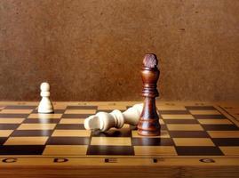 un roi d'échecs dominant un autre sur l'échiquier