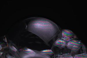 bulles sur fond noir