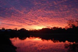 coucher de soleil sur un lac de Floride photo