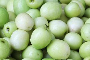 pomme de singe, fruit vert en Thaïlande photo