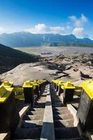 Détroit au cratère du mont Bromo, Eastjava, Indonésie photo