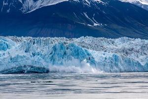 vêlage de glace dans la baie de désenchantement photo