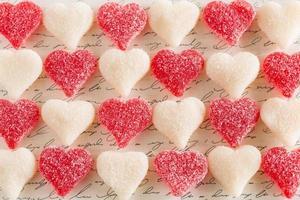 saint valentin gommeux amour coeur bonbons dessert nourriture