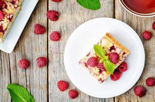 gâteau aux framboises et fromage à la crème
