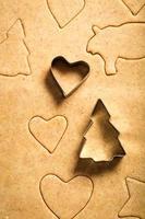 beaux biscuits de pain d'épice de noël photo