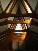 vue crucifix et toit