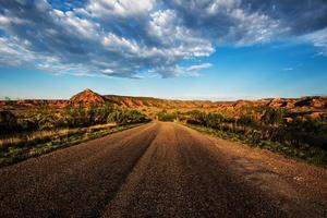 Route à travers le parc national de Caprock Canyon