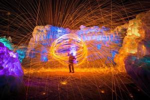 anneau de feu brûlant photo
