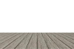 plancher de bois sur fond blanc