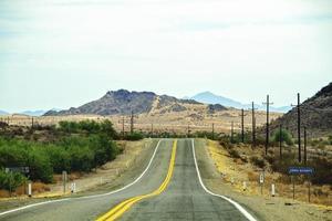 route ouverte pendant la journée photo