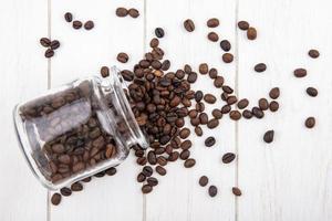 photographie culinaire mise à plat de grains de café photo