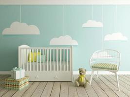 chambre bébé, intérieur chambre d'enfant photo
