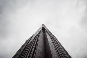 faible angle d'un immeuble de grande hauteur
