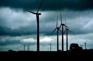 thème des éoliennes photo